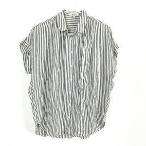Madewell Central Gabriel Striped Shirt Small